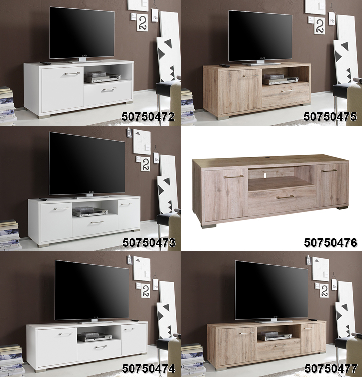 lowboard medi 3 in san remo eiche hell tv board wohnzimmer. Black Bedroom Furniture Sets. Home Design Ideas