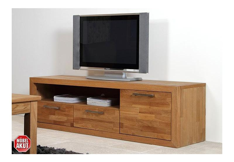 tv board tasty lowboard in eiche massiv nei ebay. Black Bedroom Furniture Sets. Home Design Ideas