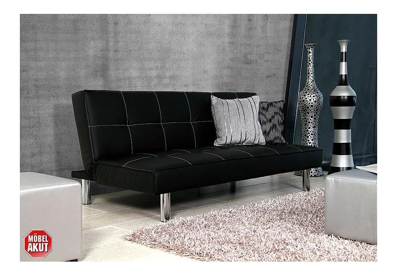 storch schlafsofa leder schwarz. Black Bedroom Furniture Sets. Home Design Ideas
