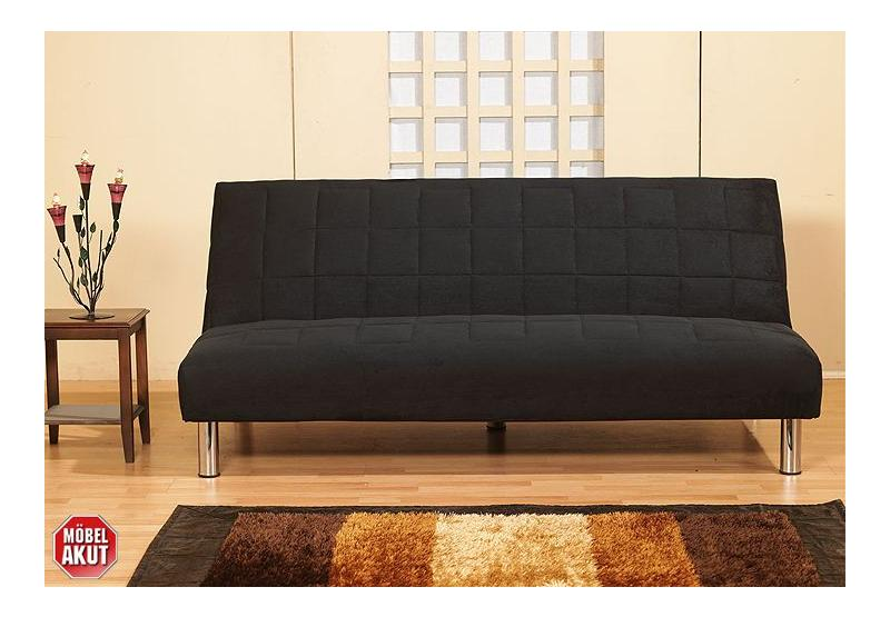 schlafsofa alina sofa in schwarz mit bettfunktion neu. Black Bedroom Furniture Sets. Home Design Ideas