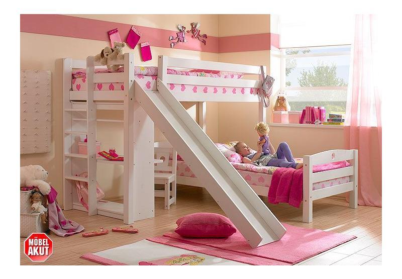 hochbett jona bett rutsche in kiefer massiv neu ebay. Black Bedroom Furniture Sets. Home Design Ideas