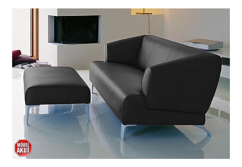 original rolf benz sofa sob 2300 in leder schwarz neu b. Black Bedroom Furniture Sets. Home Design Ideas
