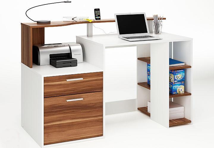schreibtisch orko in wei merano tisch neu ebay. Black Bedroom Furniture Sets. Home Design Ideas