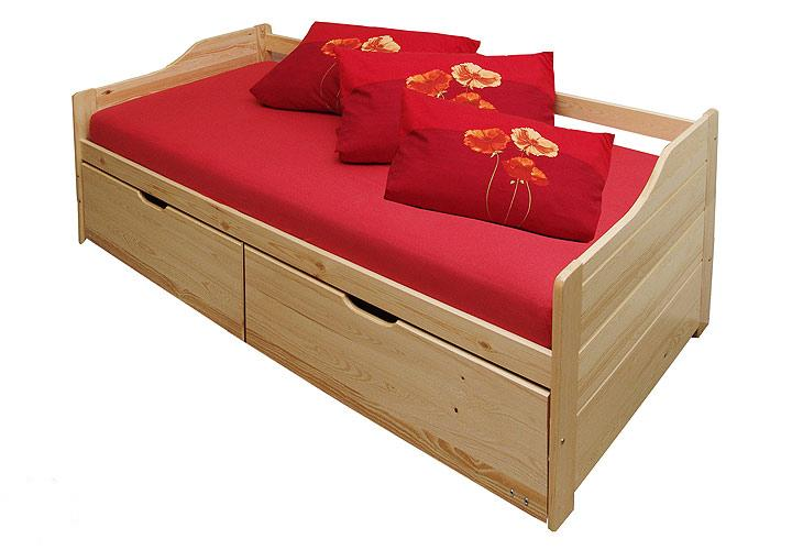 bett lenja kiefer massiv 90 x 200 cm funktionsbett ebay. Black Bedroom Furniture Sets. Home Design Ideas