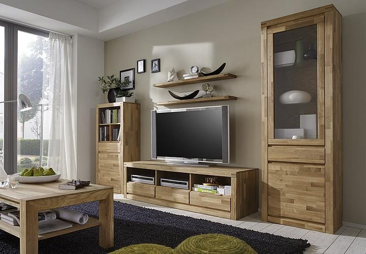 wohnwand delft 2 anbauwand in wildeiche massiv ge lt. Black Bedroom Furniture Sets. Home Design Ideas