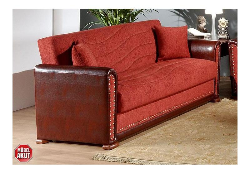 gamma 3er sofa bordeaux braun. Black Bedroom Furniture Sets. Home Design Ideas