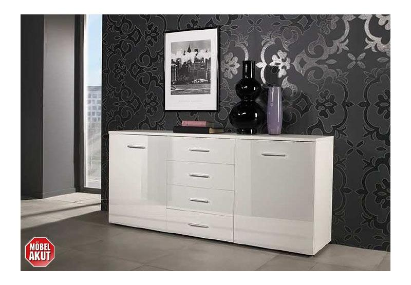 sideboard silva kommode in wei glanz neu ovp ebay. Black Bedroom Furniture Sets. Home Design Ideas