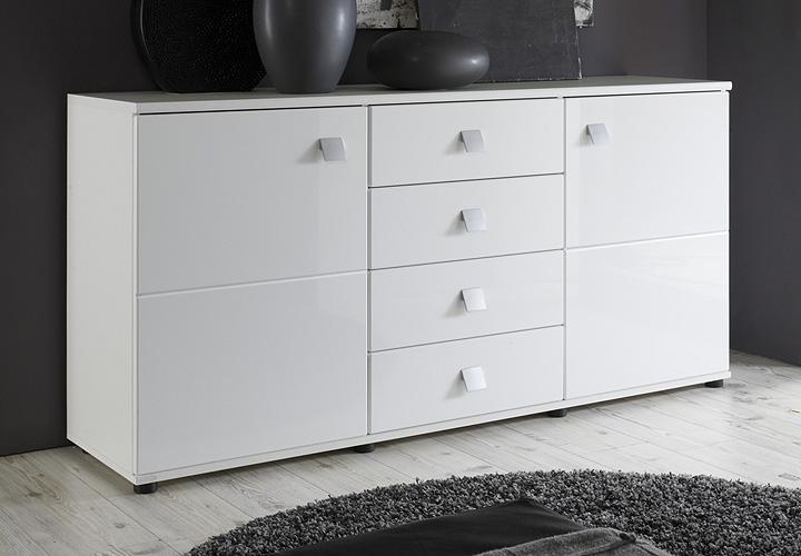 natura sideboard wei hochglanz. Black Bedroom Furniture Sets. Home Design Ideas