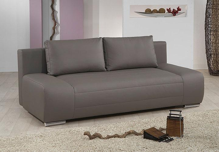 schlafsofa blanco sofa in grau mit bettfunktion ebay. Black Bedroom Furniture Sets. Home Design Ideas