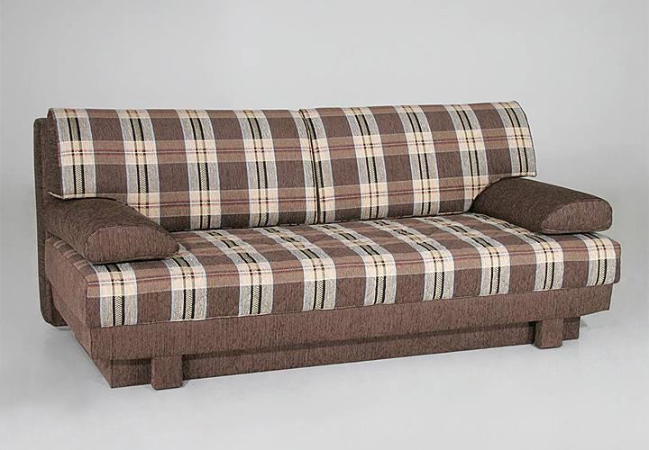 schlafsofa aurelio wohnm bel sofa in braun kariert. Black Bedroom Furniture Sets. Home Design Ideas