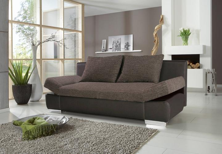 schlafsofa joker sofa schwarz mit bettkasten und chromf en. Black Bedroom Furniture Sets. Home Design Ideas