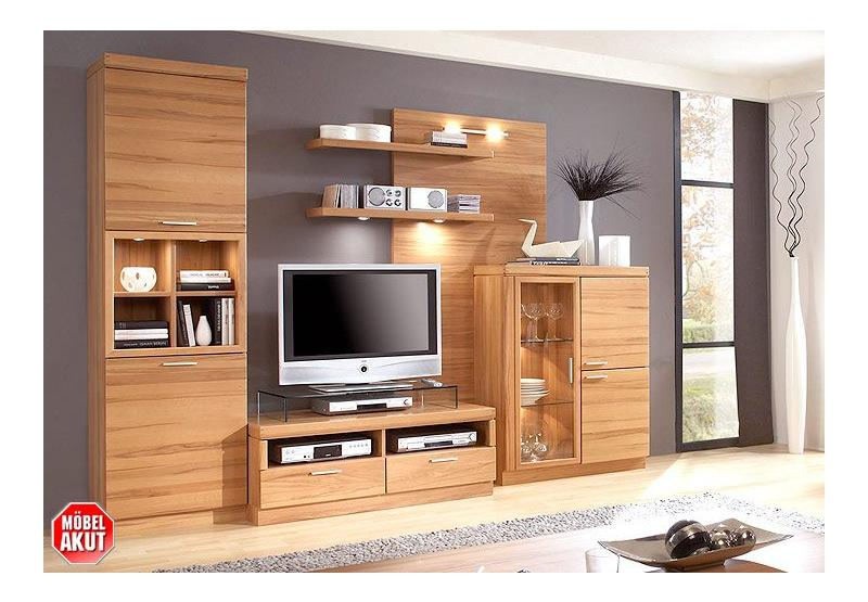 wohnwand ergo 2 anbauwand in kern buche massiv ebay. Black Bedroom Furniture Sets. Home Design Ideas