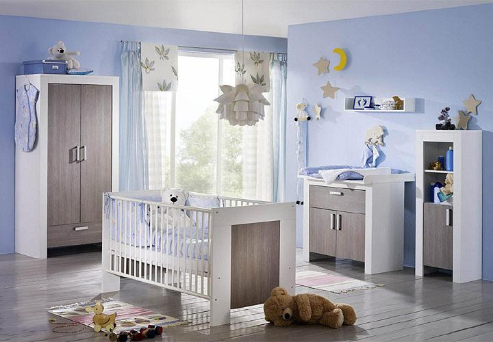 3 tlg babyzimmer michi in wei pinie rustika neu ebay. Black Bedroom Furniture Sets. Home Design Ideas