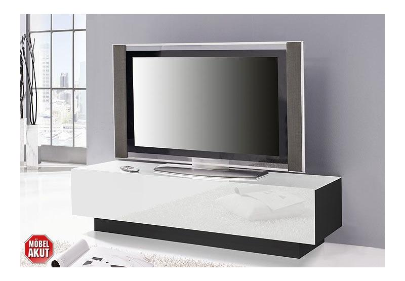 lowboard collos tv board in glas wei schwarz kommode neu ebay. Black Bedroom Furniture Sets. Home Design Ideas