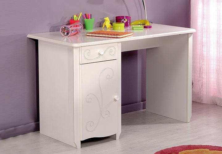 schreibtisch fresh tisch in mdf tiefgezogen wei lackiert. Black Bedroom Furniture Sets. Home Design Ideas