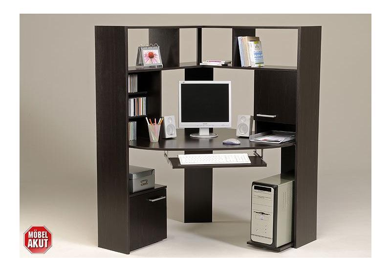 pc tisch kiko schreibtisch in wenge ecktisch neu ebay. Black Bedroom Furniture Sets. Home Design Ideas