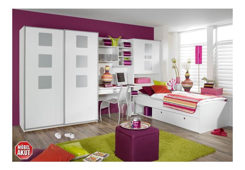 mika jugendzimmer iv wei alu. Black Bedroom Furniture Sets. Home Design Ideas