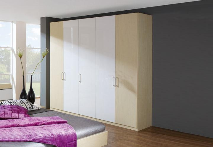 sina kleiderschrank iv ahorn wei hochglanz. Black Bedroom Furniture Sets. Home Design Ideas