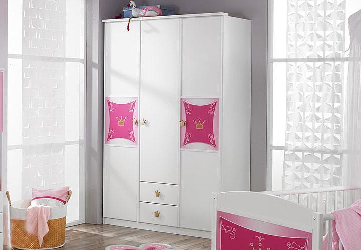 kleiderschrank kate schrank in wei rosa dekor dreit rig. Black Bedroom Furniture Sets. Home Design Ideas
