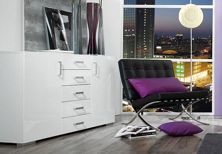 eck kleiderschrank elan schrank front in wei hochglanz. Black Bedroom Furniture Sets. Home Design Ideas