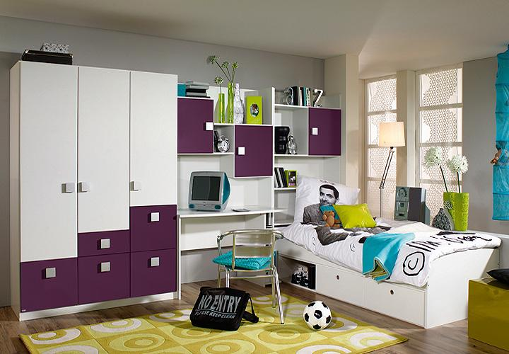 jugendzimmer skate vi kinderzimmer in lila und alpinwei. Black Bedroom Furniture Sets. Home Design Ideas