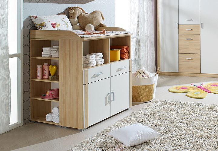 wickelkommode i peggy babyzimmer in buche und wei ebay. Black Bedroom Furniture Sets. Home Design Ideas