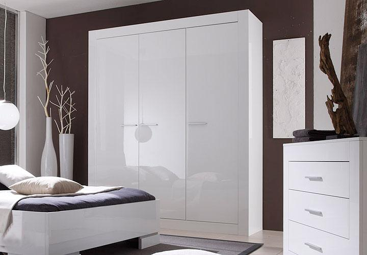 roger kleiderschrank 175 cm wei hochglanz lack. Black Bedroom Furniture Sets. Home Design Ideas