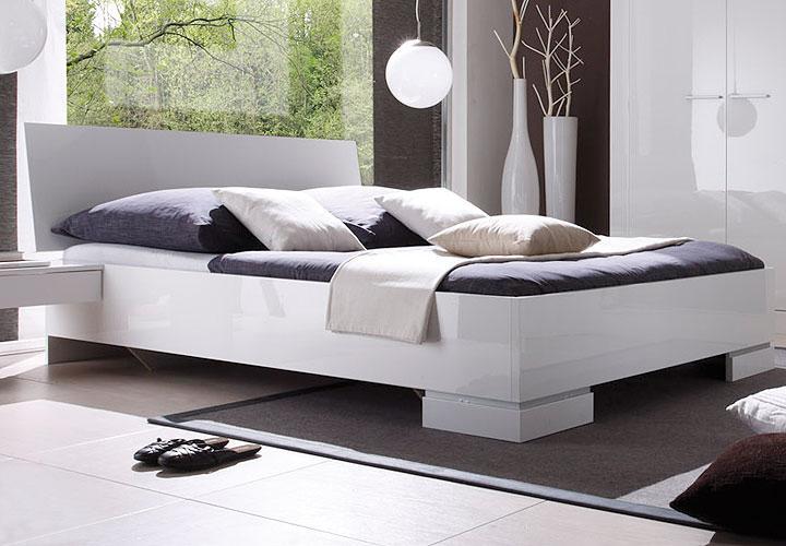 roger bett 160x200 cm wei hochglanz lack. Black Bedroom Furniture Sets. Home Design Ideas