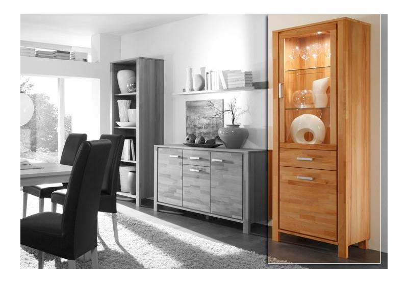 malibu vitrine rechts kernbuche massiv. Black Bedroom Furniture Sets. Home Design Ideas