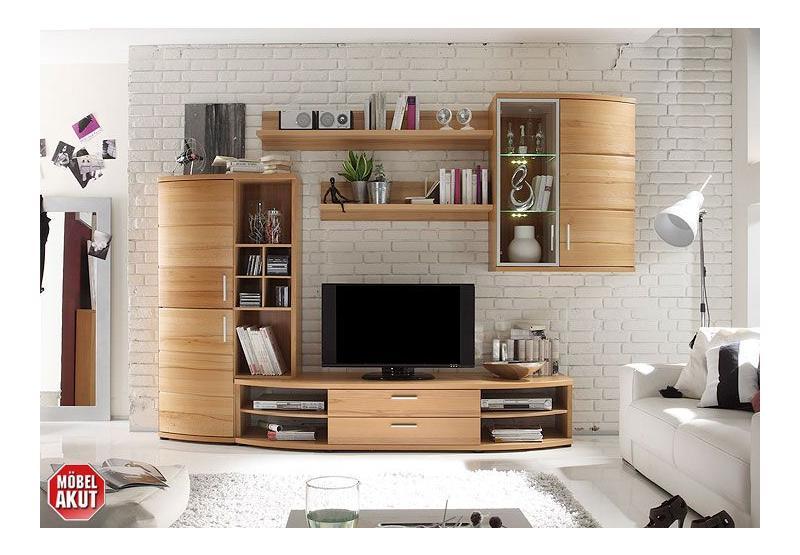 avaro wohnwand i kernbuche massiv. Black Bedroom Furniture Sets. Home Design Ideas