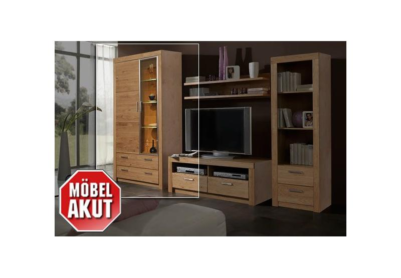 vitrine k ln schrank in wild eiche massiv neu ebay. Black Bedroom Furniture Sets. Home Design Ideas