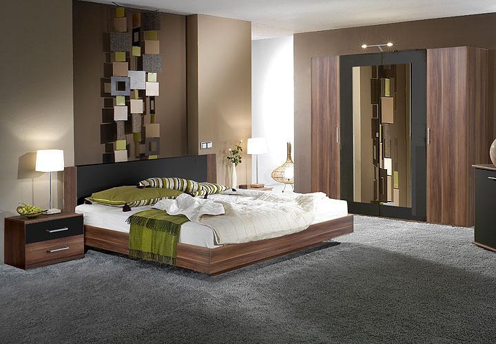 schlafzimmer i napoli schlafzimmerset nussbaum und schwarz. Black Bedroom Furniture Sets. Home Design Ideas
