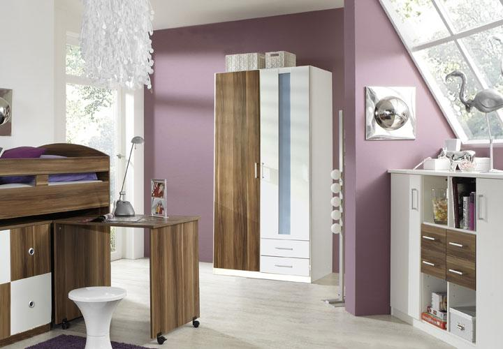benno kleiderschrank nussbaum 90 cm wei nussbaum. Black Bedroom Furniture Sets. Home Design Ideas