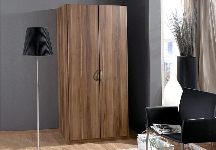 sidney kleiderschrank nussbaum 90 198 cm i nussbaum. Black Bedroom Furniture Sets. Home Design Ideas