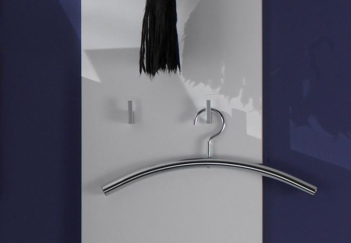Lyon garderobenpaneel i grau hochglanz wei for Garderobenpaneel grau