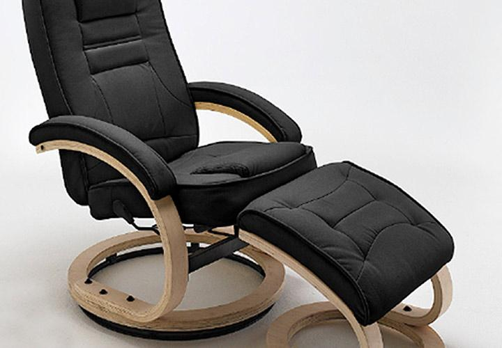 fernsehsessel genf relaxchair in schwarz inkl hocker. Black Bedroom Furniture Sets. Home Design Ideas