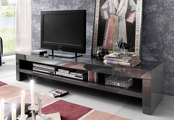 giro tv board grau ii hochglanz lack. Black Bedroom Furniture Sets. Home Design Ideas