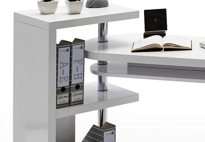 schreibtisch matt b rotisch tisch wei hochglanz lackiert. Black Bedroom Furniture Sets. Home Design Ideas