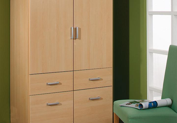 kleiderschrank bremen w scheschrank in buche hell 91 cm. Black Bedroom Furniture Sets. Home Design Ideas