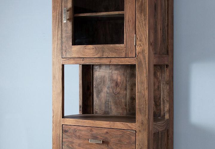 vitrine guru 6673 akazie massiv stone von wolf m bel. Black Bedroom Furniture Sets. Home Design Ideas