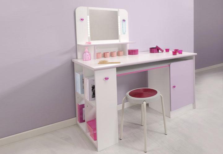 schreibtisch madame tisch in wei und lila hochglanz. Black Bedroom Furniture Sets. Home Design Ideas