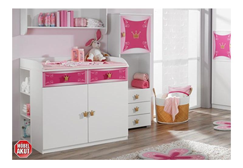 babyzimmer kate kinderzimmer in wei und rosa dekor. Black Bedroom Furniture Sets. Home Design Ideas