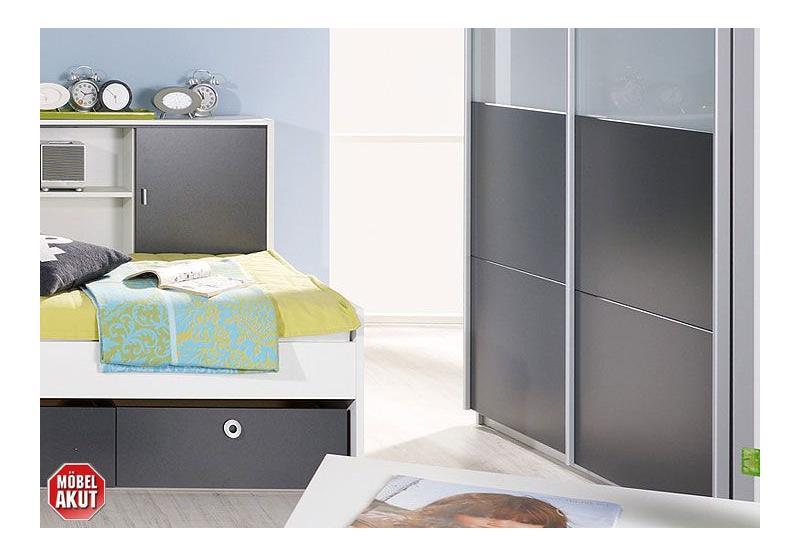 Chica jugendzimmer set alpinwei grau metallic 2 teilig - Jugendzimmer grau ...