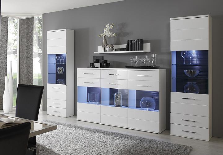 sideboard hochglanz mit glas ihr traumhaus ideen. Black Bedroom Furniture Sets. Home Design Ideas