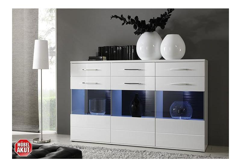 wohnwand i lens anbauwand in wei und grau hochglanz. Black Bedroom Furniture Sets. Home Design Ideas