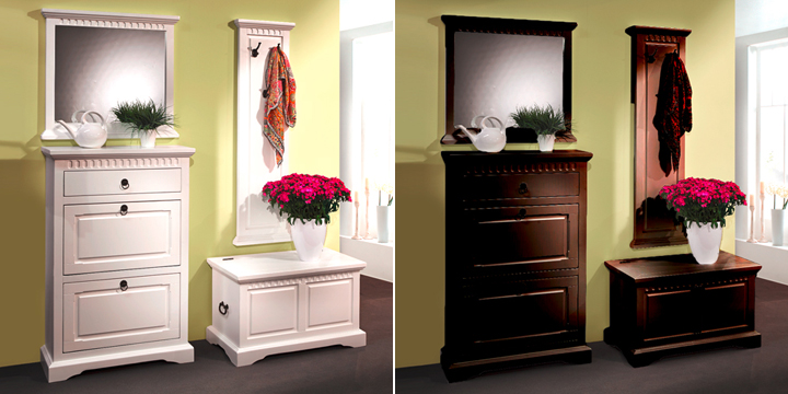 wandgarderobe pisa flurm bel garderobe in pinie massiv. Black Bedroom Furniture Sets. Home Design Ideas