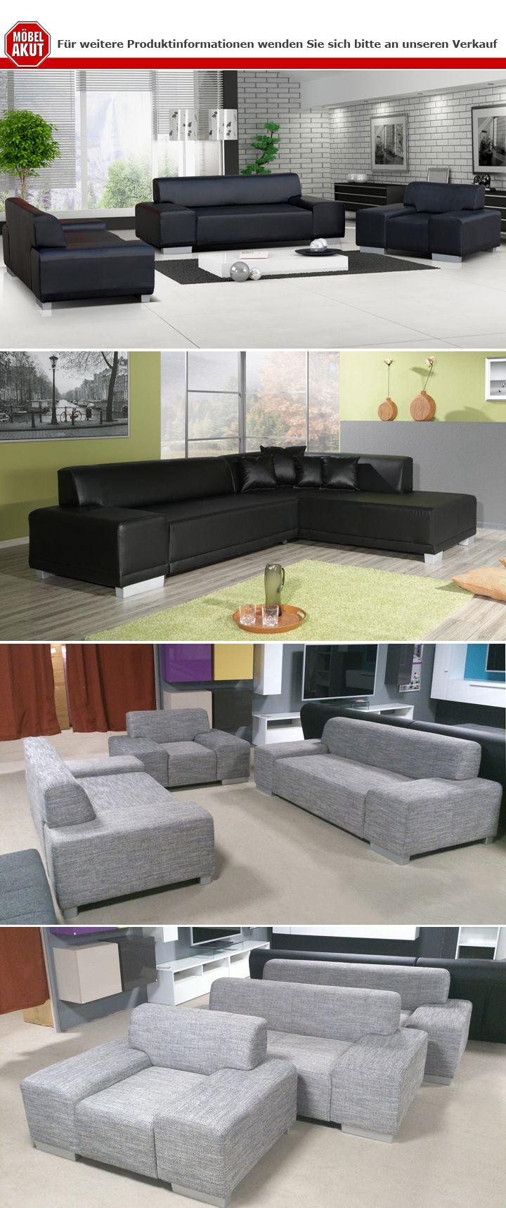 sofa peter 2 sitzer wohnzimmer couch in lederlook schwarz mit f en in aluoptik ebay. Black Bedroom Furniture Sets. Home Design Ideas