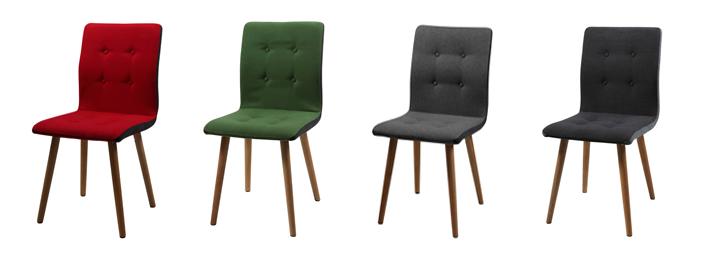stuhl frida 2er set bezug stoff gr n eiche massiv ge lt. Black Bedroom Furniture Sets. Home Design Ideas
