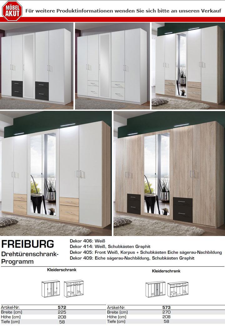 Kleiderschrank fly in wei 6 t rig mit spiegel b 270 cm for Wohnlandschaft 270 cm