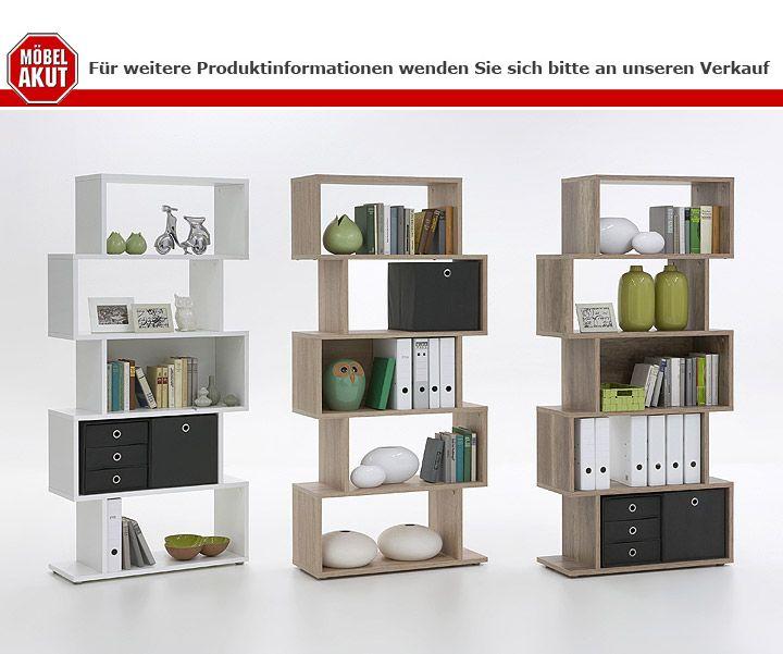 regal raumteiler kubi aktenregal mit 5 f cher in wildeiche. Black Bedroom Furniture Sets. Home Design Ideas